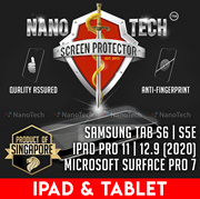 Microsoft Surface Pro 6/7/Go/iPad Mini/Air/Samsung Tab A/S4/S3 Tempered Glass Screen Protector