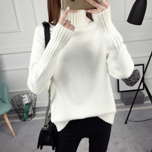Woman Winter Turtle Neck Sweater New 2018 Spring Fashion Thermal Wear
