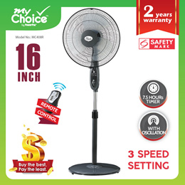 My Choice - PowerPac Stand Fan 16 inch with Remote Control (MC408R)