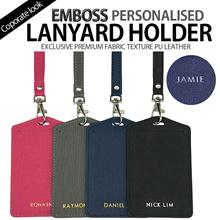 [Helloimd] EMBOSS LANYARD Holder| Corporate Look Exclusive Customised Personalised Monogram GIFT