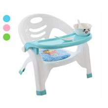Dining Chair Detachable Plastic Tray For Children Kindergarten Portable Stool Eating Back Folding Di
