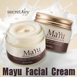 【Secret Key HQ Direct Operation】 Mayu Healing Facial Cream 50g/Rich nutrition goes into deep skin