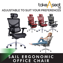 SAIL SERIES ERGONOMIC OFFICE CHAIR | ADJUSTABLE | COMFORTABLE | PATENTED DESIGN