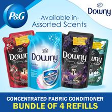 [Downy] Bundle of 4 Refill Pack / Concentrated Fabric Conditioner