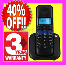 💥 3 YEARS WARRANTY 💥 MOTOROLA VTECH SINGLE TWIN DECT CORDLESS PHONE T101  C602 T301 T302 ES2210A