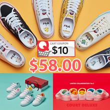 ★Get Qoo10 Coupon $10★[FILA x POKEMON] Court Deluxe / Original Classic Kixx B series 17 Type sneakers