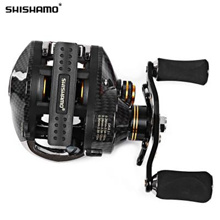 SHISHAMO LB200 LEFT HAND RIGHT HAND FISHING BAIT CASTING REEL (BLACK)