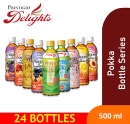 [POKKA] CHEAPEST 500ML DRINK SALE! Choose from GREEN/[RED/PEACH/OOLONG/BLUEBERRY/HONEY LEMON