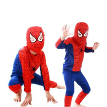 Halloween Kids Spiderman Cosplay Costume Children Performance Stage Clothing Sets With Mask