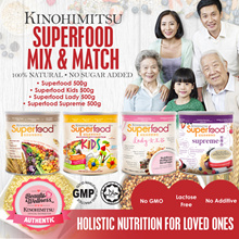 [MixnMatch] 1+1+1 Kinohimitsu 500g Superfood / Superfood Kids / Superfood Lady / Superfood Supreme