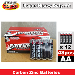 48pcs Eveready AA Super Heavy Duty Battery 1 Box (12x4 pks)