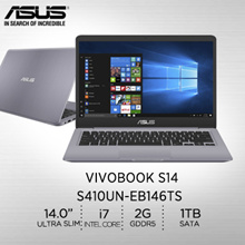 Asus: S410UN-EB146TS/Intel® Core™ i7-8550U processor 1.8 GHz/2 year international warranty
