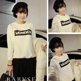 Korean College Wind Loose Sweater Sweater Summer Long Sleeve Top