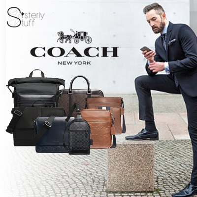 CoachDIRECT SHIPMENT FROM USA-COACH MENS SHOULDER BAG/CROSSBODY/MAP BAG-NEW  RELEASE STYES ADDED