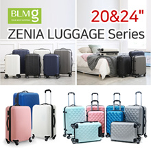 Zenia Cube Travel Luggage/ABS/Sturdy/20/24/Hardshell/Storage/Trolley/Bag