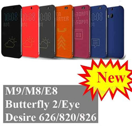 Nowasia HTC Dot-View Flip Cover For HTC One M9/M8/E8/Desire Eye/Butterfly 2/820/826