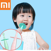 Xiaomi Baby silicone toothbrush Protect gums Umbrella prevents swallowing Bottom suction cup