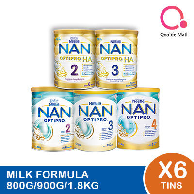 NANNestle Nan Milk Forumla milk [Nan Optipro/HA/Kid hypoallergenic] (Bundle of 6)