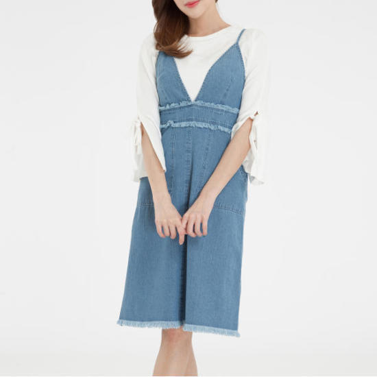 ミソオーバーブイネクスリップワンピースMIWOW7511J 面ワンピース/ 韓国ファッション