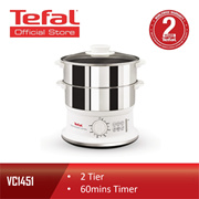 Tefal 2 Tier 6L Stainless Steel Automatic Convenient Steamer Food Steamer VC1451