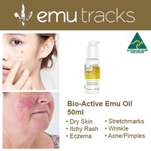 [PROVEN BY 2000 REVIEWS] 50ml Pure Emu Oil.100% Natural. Australian made. For Skin  Pain Conditions.