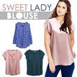 BEST SELLER!Berska Branded Sweet Lady Blouse_3 Model_Premium Quality / Blouse wanita Blouse lengan panjang Blouse lengan pendek Casual Blouse