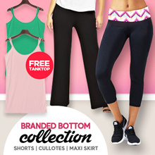 [FREE TANKTOP] BRANDED WOMEN SHORT PANTS - CULLOT - MAXI SKIRT