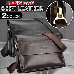 COUPON  100%leather Feger Shoulder Bag Men s Crossbody Bag Backpack Handbag 6dd11fabc6
