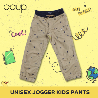 [NEW ARRIVAL] COUP S4 UNISEX JOGGER KIDS PANTS / CELANA ANAK / MURAH / CELANA PANJANG / CELANA JOGER Deals for only Rp71.000 instead of Rp71.000