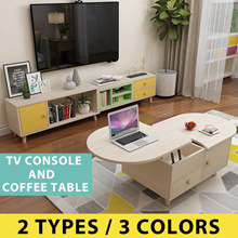 Coffee Table /TV Cabinet Nordic Solid Wood. Modern/Minimalist design. Colorful/Lifestyle Concept!