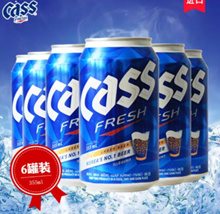 [Geonbae Korea Wine] Cass Beer 330ml Can 6-pack / Korea wine Liquor