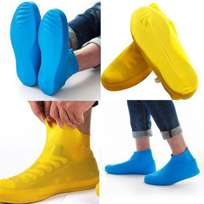 1 Pairs Outdoor Waterproof Rubber Rain Shoe Covers Overshoes Boot Covers Size Sml