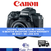 CANON EOS M5 DIGITAL COMPACT SYSTEM CAMERA * LOCAL SET WITH LOCAL CANON 15 MONTHS WARRANTY * FREE MEMORY CARD AND MEMORY CARD STORAGE CASE * M5 BODY * M5 LENS KIT * ORIGINAL