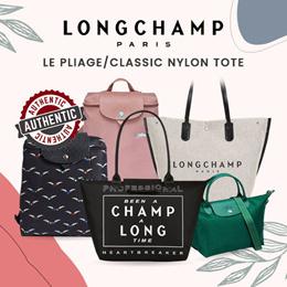 Longchâmp*Local Ready Stocks*/100% Authentic/Le Pliage/Classic Nylon Tote/NEO/1512/1515/1699/1899