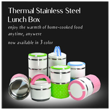 [CNY $8.80 Sale ] Thermal Stainless Steel Lunch Box -  930ml /  1230ml | Up to 5 hours thermal !