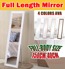 ★Ready Stock★【2017 New】Full-length mirror/Full-Body Size/Standing mirror/wooden solid pier glass
