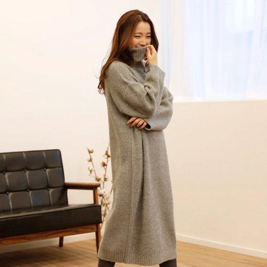 [送料無料]ビナインセピアニット・ワンピース/ニット・ワンピース/ 韓国ファッション