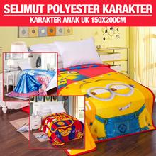 Selimut Polyester   Karakter Anak Uk 150x200cm 5 Pilihan Motif