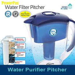 [PowerPac]PP1518/Water Purifier Pitcher/4 stage filtration/for cold tap water