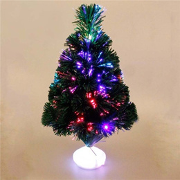 Colorful Christmas Tree 45 cm Optical Fiber Color Light Emulate Christmas Tree with LED Luminous for