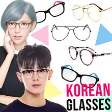 ⊶ GLASS FRAME ⊶ UNISEX EYEWEAR ⊶ GLASSES / SPECTACLE ⊶ HALF / COLORFUL PLASTIC / ROUND METAL⊶ KOREAN