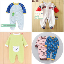 Toddler Baby Kids Girl Boys Autumn Winter Long Sleeve Solid Color Dot Cute Cartoon Ear Hooded Homewear Jumpsuit Pajamas Shan-S Baby Romper 0-24 Months