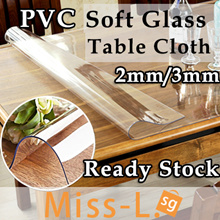 ★2mm/1.5mm Thickness★Transparent PVC Mat/ Soft Tampered Glass Table Mat for Table /CrystalWaterproof