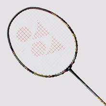 Yonex LCH store Nanoray 800 Badminton Racket with the BG-80 Gut (Black Margenta) (a)