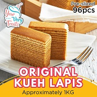YourVeryTreatz Original KUEH LAPIS(Pre Cut 96 Slices) Free Delivery! Halal certified!