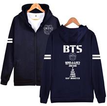 factory Waidx BTS Zipper Hoodies Women Bt21 Jackets Sweatshirt   Cotton Pocket Girl Streetwear Drop
