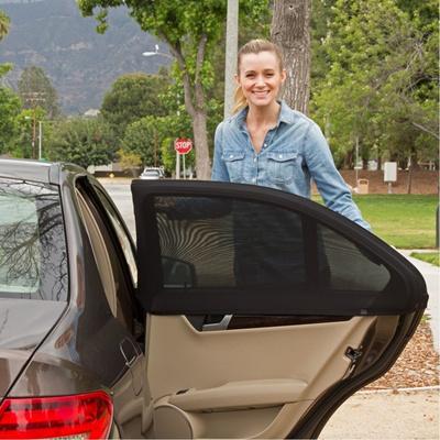 2 Pack High Elastic Spandex Car Window Shade Fits Most Cars//Suvs Universal Automotive Window Sunshades