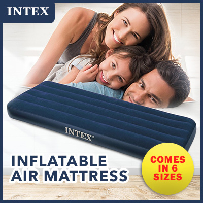 NEW in Box Intex Double Fabric Camping Mat AIRBED Inflatable Mattress Bed 68799