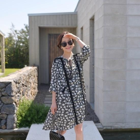 悪女日記】シュエルリワンピース 綿ワンピース/ 韓国ファッション