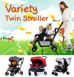 ★New★ Seebaby Double/Twin Strollers ---T12pro (Free fall prevention barrier)/ T12/ T22/ T33